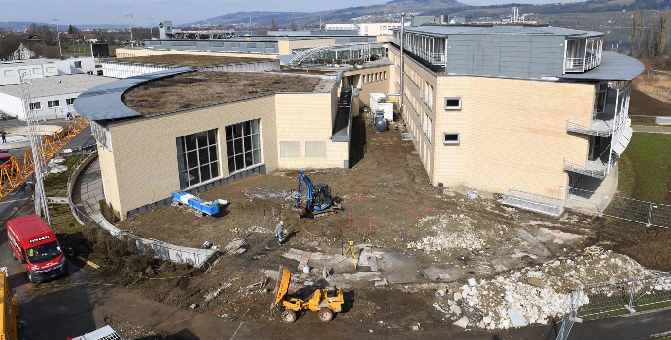 Baustelle Besucherzentrum März 2018