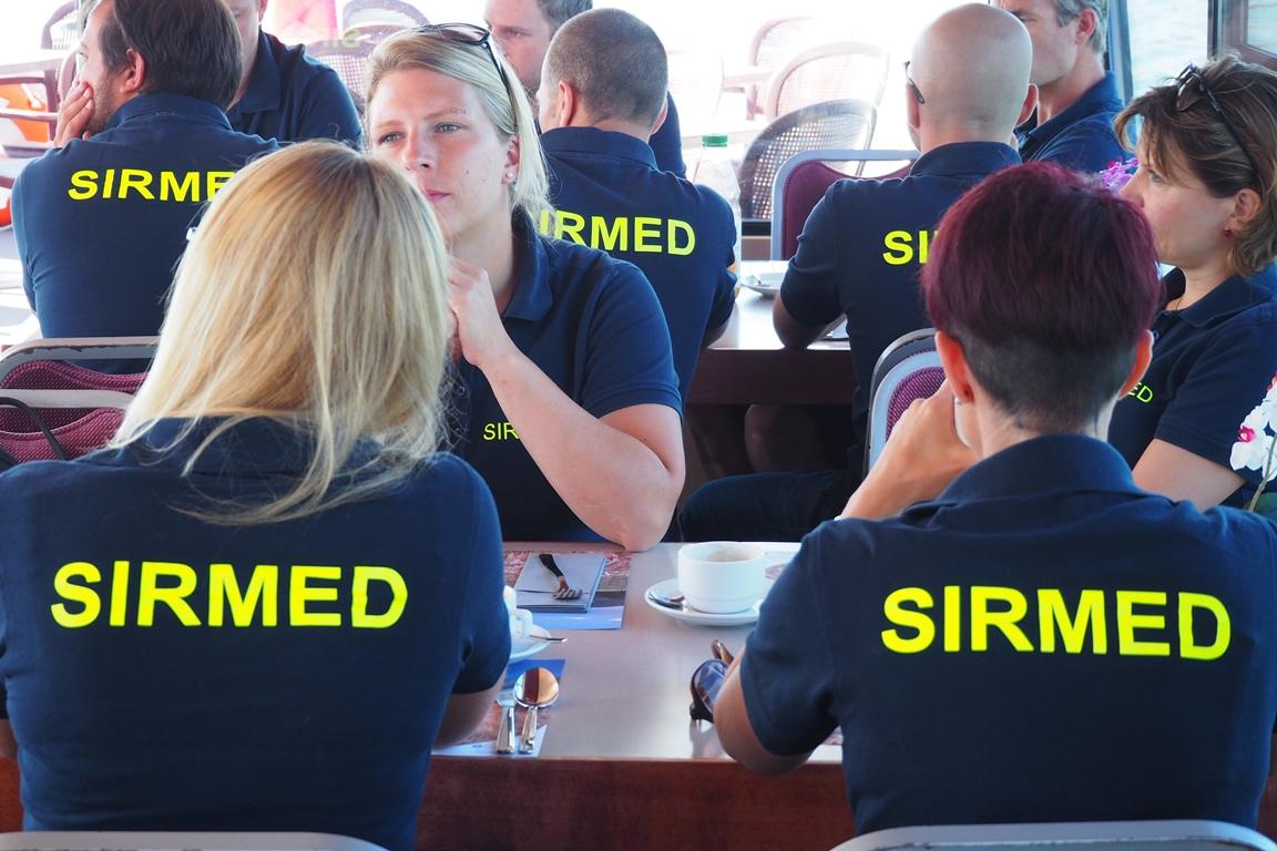 Teamausflug der SIRMED auf einem Schiff
