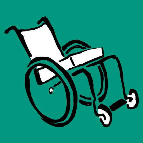Orthotec Rehatechnik Rollstuhl als Grafik