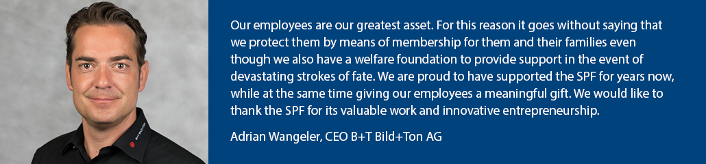 Quote Adrian Wangeler, CEO Bild+Ton AG