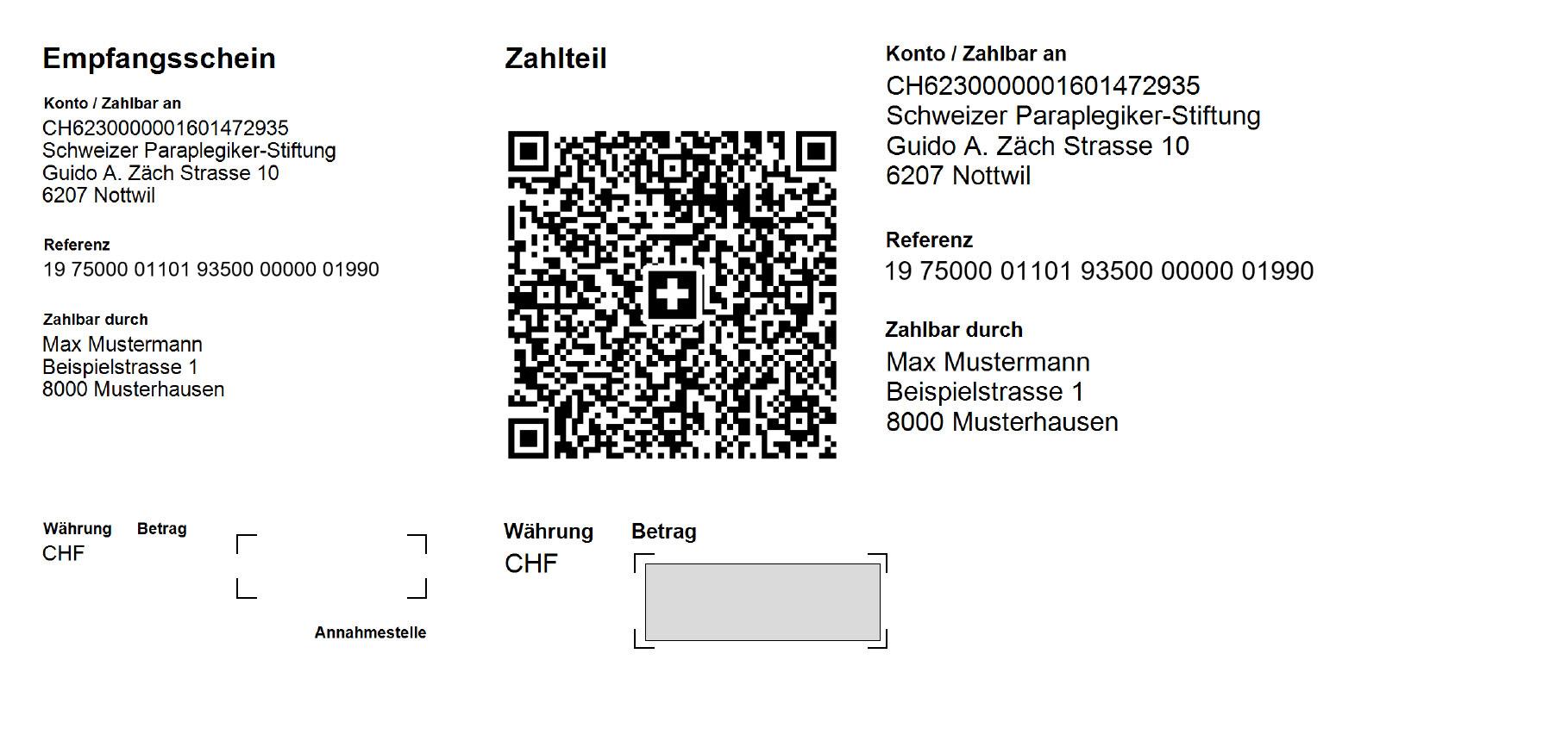 QR-Rechnung-Schweizer-Paraplegiker-Gruppe