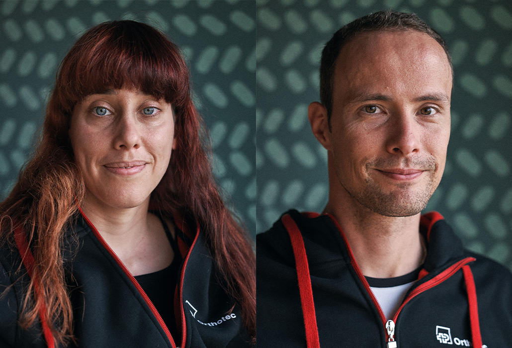 Orthotecsports Sportler Patricia Eachus und Marcel Hug Portraits