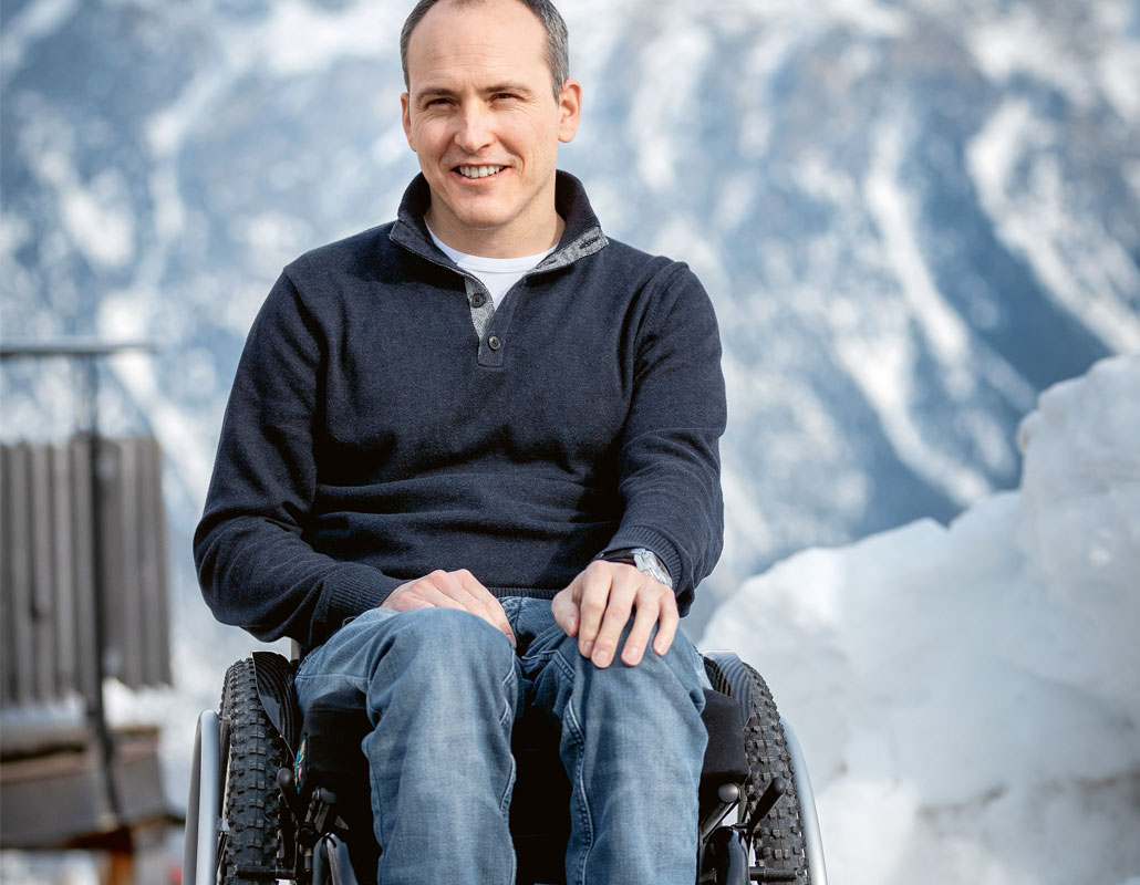 Ronny Keller giocatore di hockey Fondazione svizzera per paraplegici