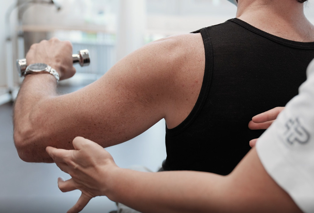 Orthotec Ergometer Schulter in Bewegung