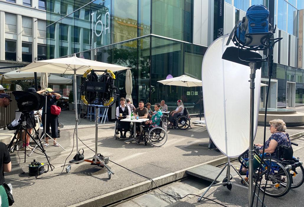 campagne publicitaire romande place le flon lausanne fondation suisse pour paraplegiques