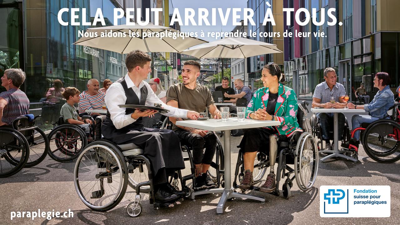 Romandie Campagne Fondation Suisse pour paraplégiques