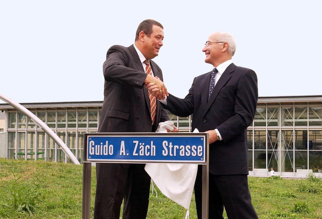 Einweihung Guido A. Zäch Strasse mit Guido A. Zäch
