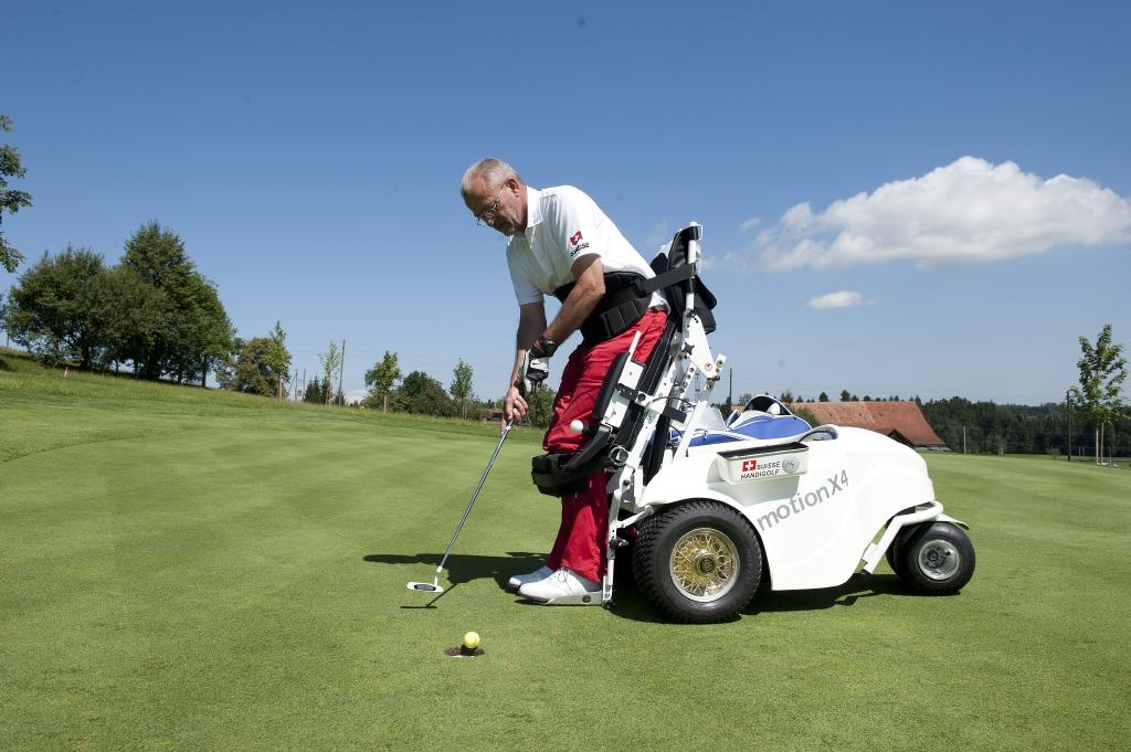 Querschnittgelähmt und Golfen? Dies ist heute möglich - dank dem sozialen Engagement von Guido A. Zäch