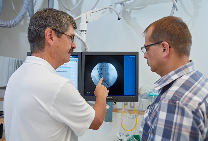 Besprechung von Röntgenbildern