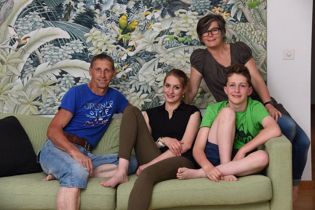Die Familie gibt dem querschnittgelähmten Andrin Rückhalt.
