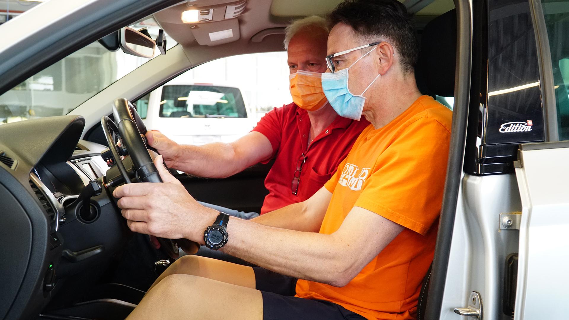 Cisi fährt zum ersten mal ein umgebautes Auto