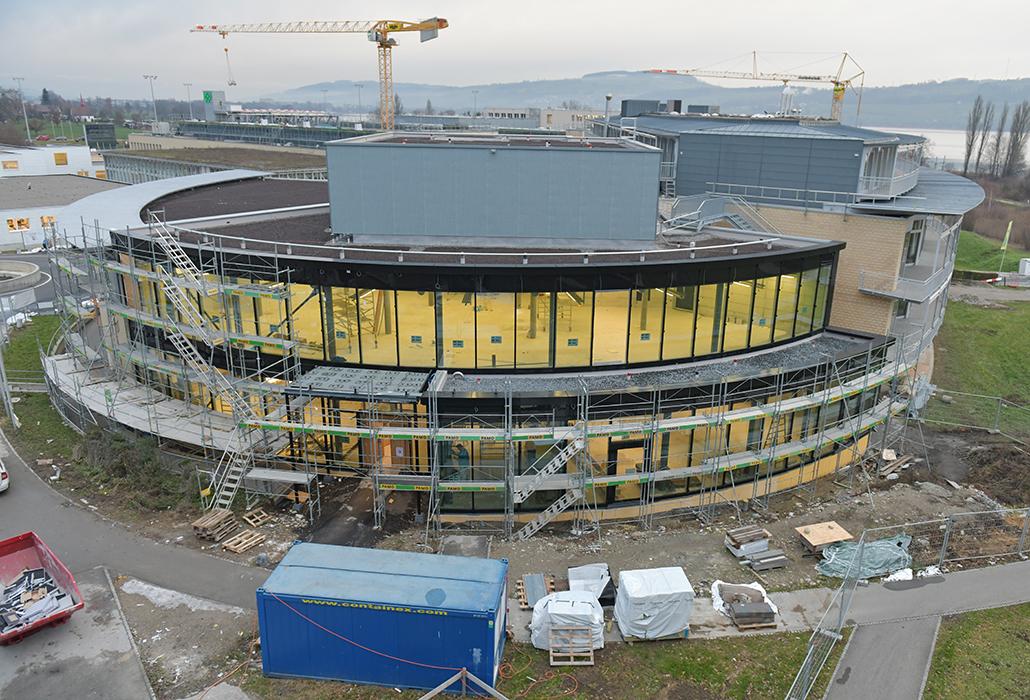 Die Baustelle des Besucherzentrums im Dezember 2018.