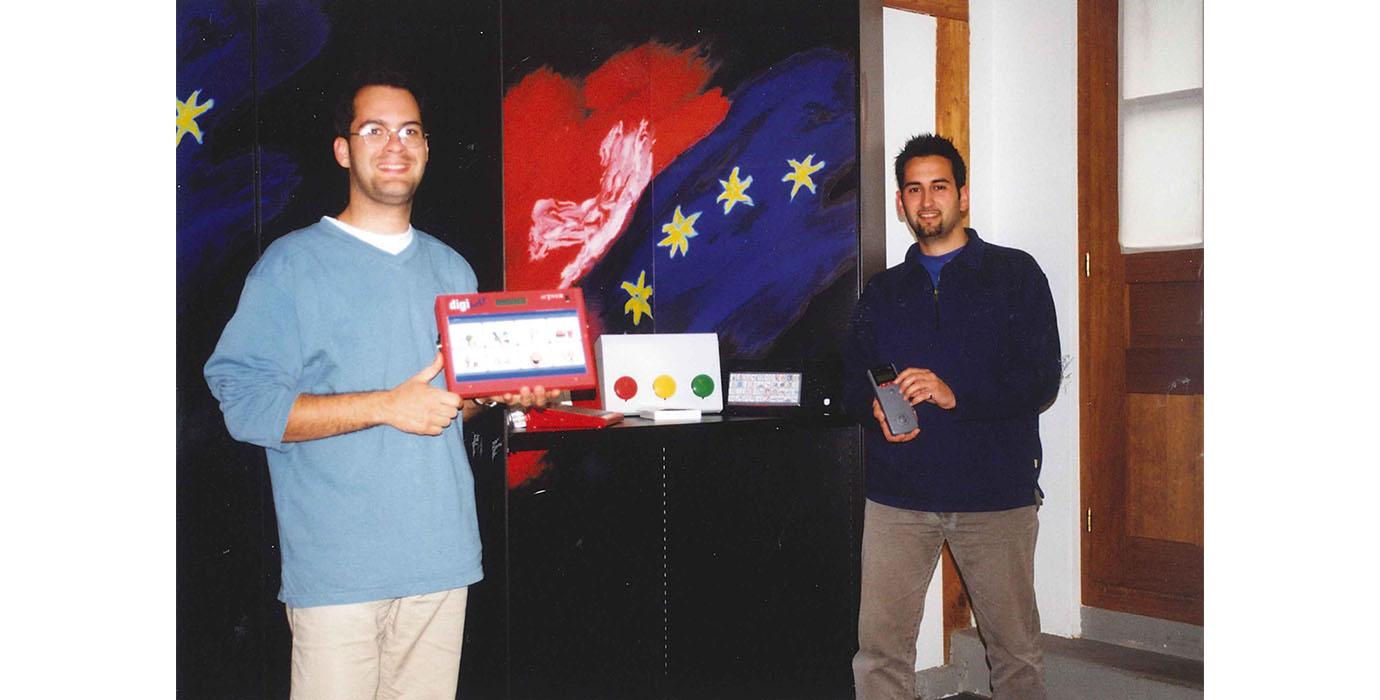 Die beiden Firmengründer Fiore Capone und Ivan Zavagni