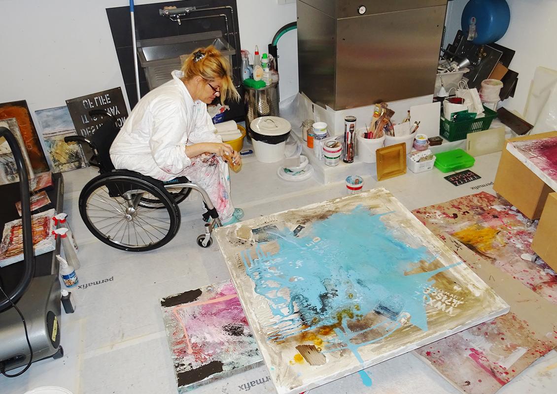Nadia Bianda in ihrem Atelier