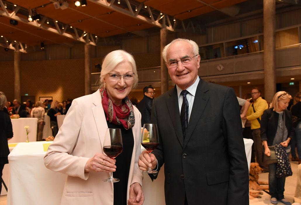 Guido A. Zäch mit seiner langjährigen Wegbegleiterin Silvia Buscher