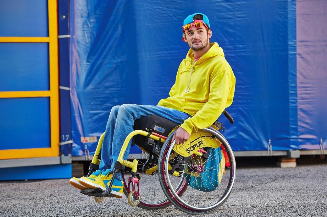 Der Rollstuhlfahrer setzt sich ein für Betroffene.