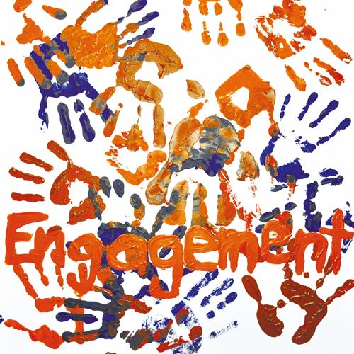 """Das Herz als Symbol für """"Herzensanliegen"""" steht für die Entwicklung kundenorientierter Hilfsmittel und Angebote. Die Hände als Symbol für """"Zusammengehörigkeit"""", steht für die vielen unterschiedlichen Kunden, Mitarbeitenden, Menschen... Die Hand mit Pflanze als Symbol des """"Wachstums"""" steht für die Entwicklung, Projekte und Neues. Der Blaue Kreis steht für den Kreislauf: Leben-Arbeit-Produkt."""