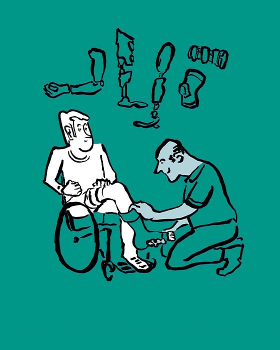 Orthotec Bewegungsfreiheit Illustration Beratung