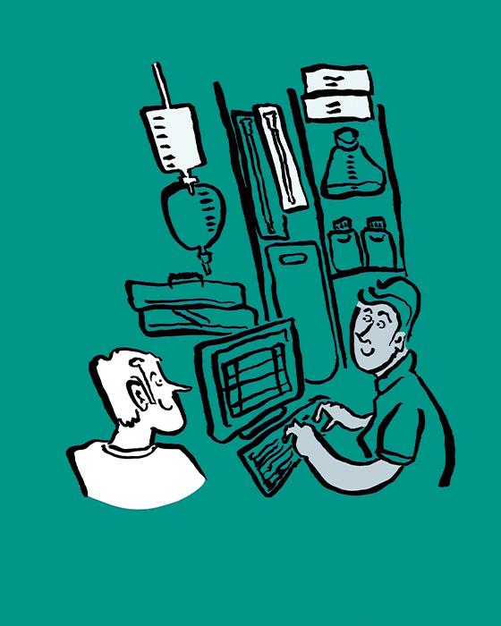 Orthotec Bewegungsfreiheit Illustration Bestellung