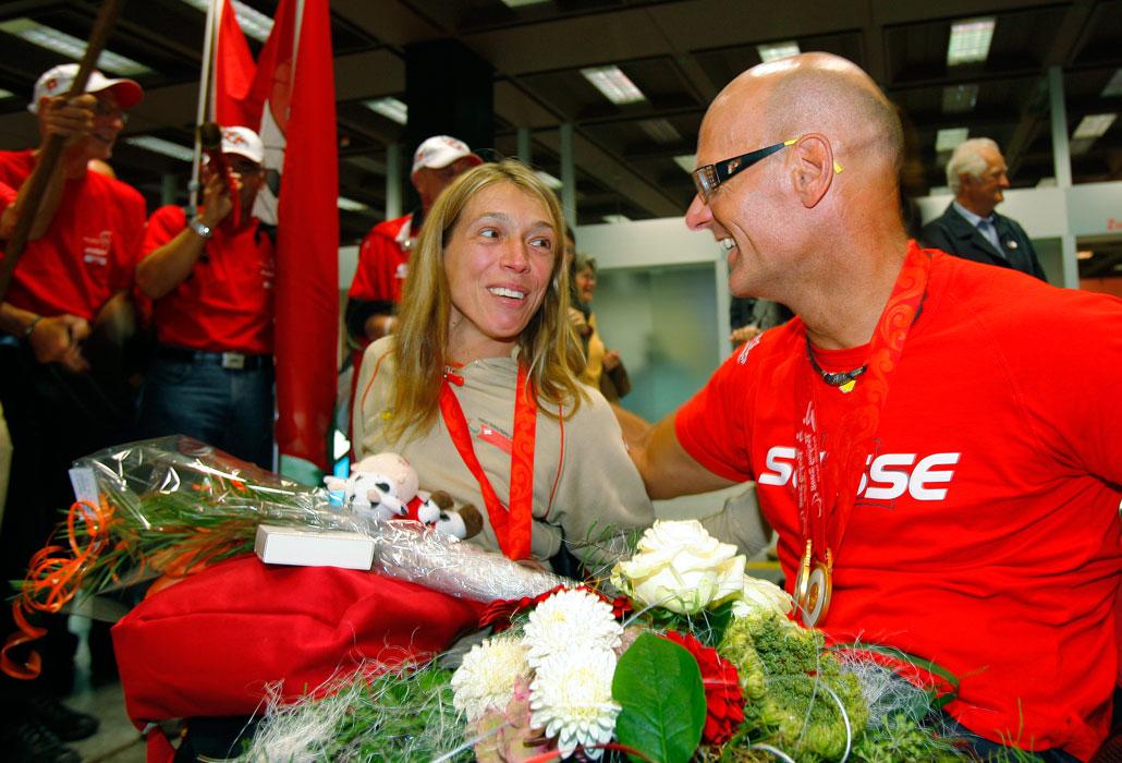 Pia Schmid mit Heinz Frei
