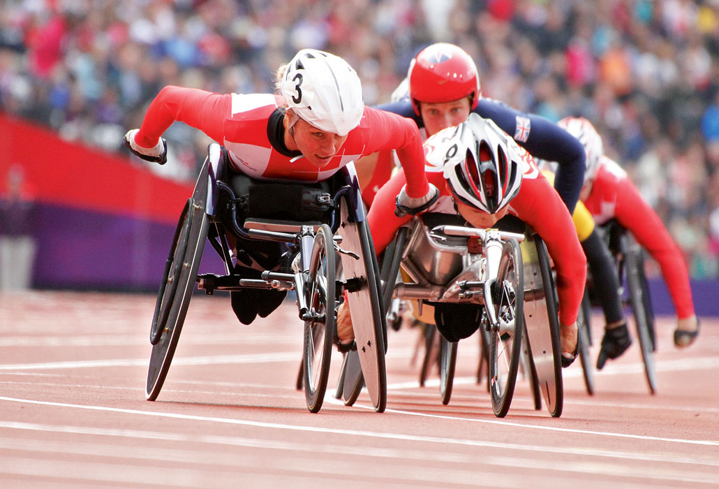 Rollstuhlleichtathletik Paralympics Rennen