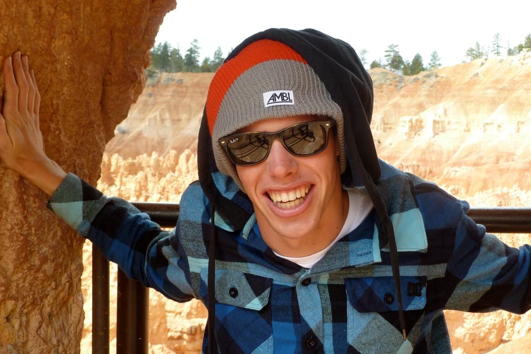 Samuel Kasper bei seinem USA-Tripp - trotz Rollstuhl