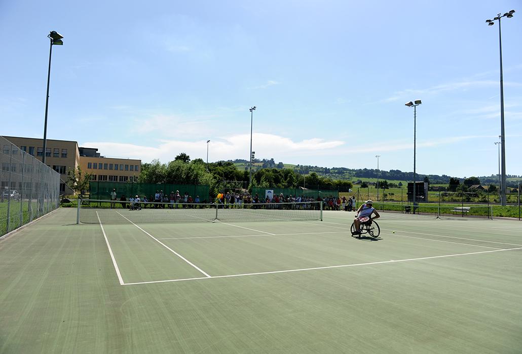 Tennisplatz Schweizer Paraplegiker Zentrum