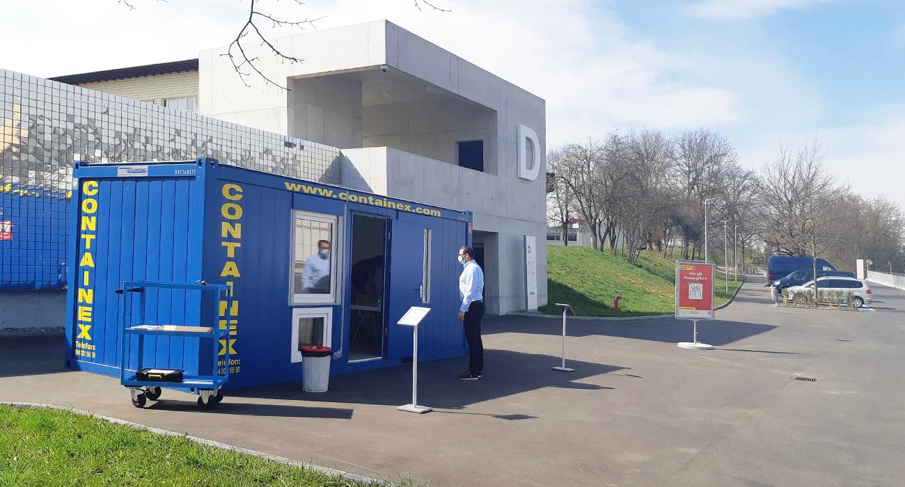 Testzenter corona 24 - Schweizer Paraplegiker-Zentrum